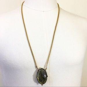Reversible Gold Tone Pendant Necklace